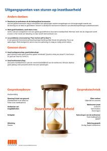 een poster van de uitgangspunten en gespreksleidraad bij sturen op inzetbaarheid